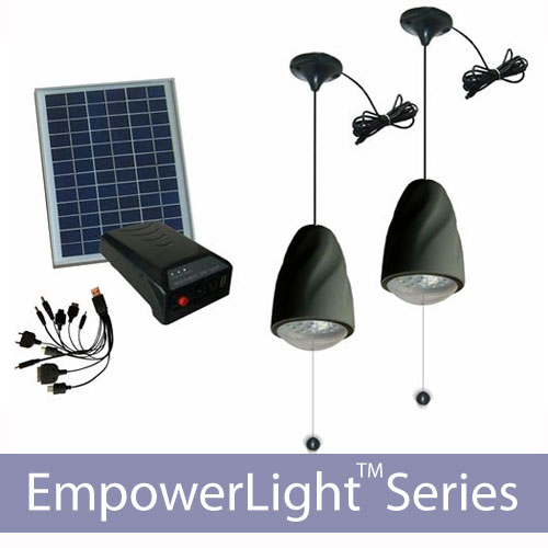 40 Led Solar Lighting And Battery Charging Kit