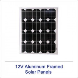 12v Plus Aluminum Framed Solar Panels