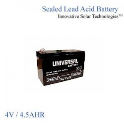 Sealed Lead Acid Battery 4v 4.5Ah