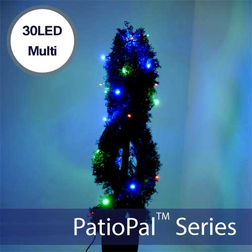 30 LED Multi-Colored Solar Holiday Lights