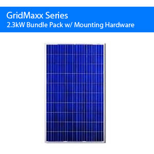 Gridmaxx 2.3kw Bundle Pack w/ Mounting