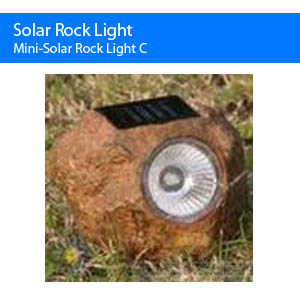 Mini Solar Rock Light C