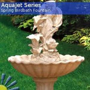 Spring Solar Birdbath Fountain