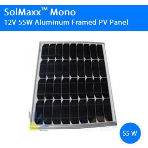 55 Watt SolMaxx Solar Panel