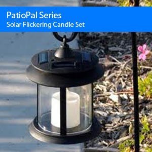 Solar Flickering Candle Set Light