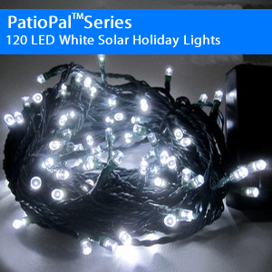 102 LED White Solar Holiday Christmas Lights (Alternating)