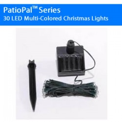 PatioPal Series 30 LED Multi-Colored Christmas Lights