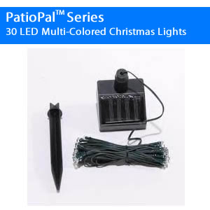 30LED Colored RV Solar Awning Lights