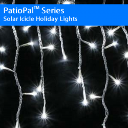PatioPal Series Solar Icicle Holiday Lights 2