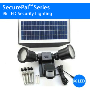 SecurePal 96 LED Solar Outdoor Security Flood Light
