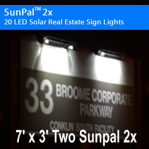 New SunPal 2x Solar Real Estate Light | Solar Lights