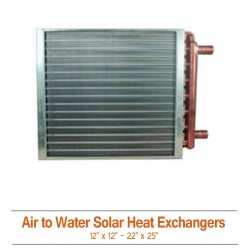 Air To Water Solar Heat Exchangers