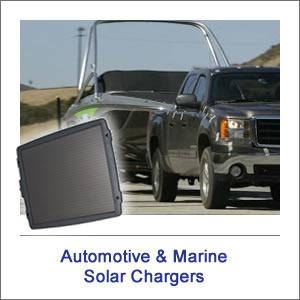 Automotive & Marine Solar Battery Chargers