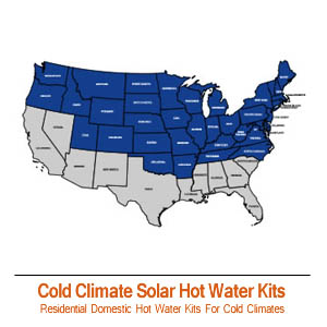 Cold Climate Solar Hot Water Kits