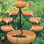 Dual Cascading Solar Water Fountain