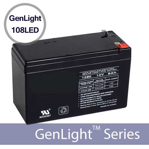 genlight-108led-replacement-battery