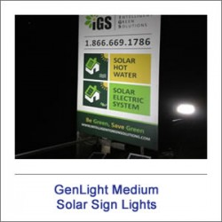 GenLight Medium Solar Sign Lights