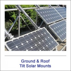 Ground & Roof Tilt Solar Mounts