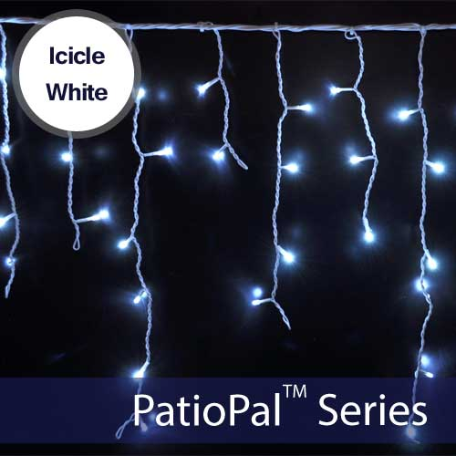 Solar Icicle Holiday Lights Solar Lights