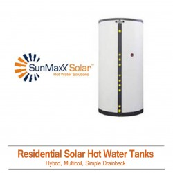 Residential Solar Hot Water Tanks