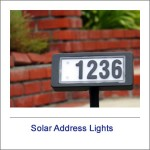Solar Address Lights
