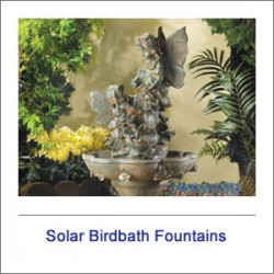 Solar Bird Bath Fountains & Solar Kits