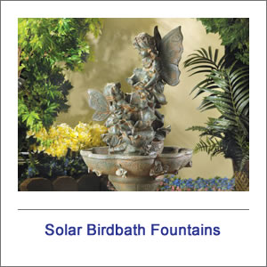 Birdbath Solar Fountains