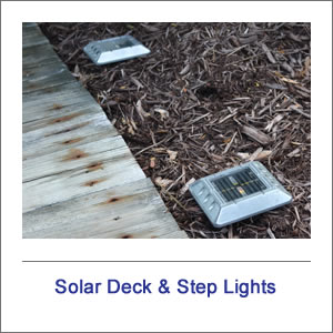 Solar Deck & Step Garden Lights