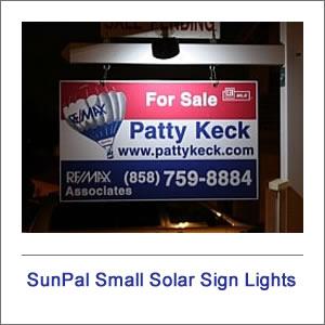 SunPal Solar Real Estate Sign Lights