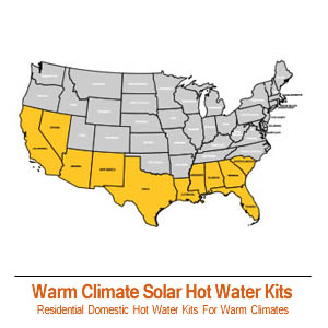 Warm Climate Residential Solar Hot Water Kits