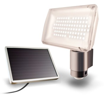 Solar Powered Aluminum 80 LED Outdoor Security Flood Light