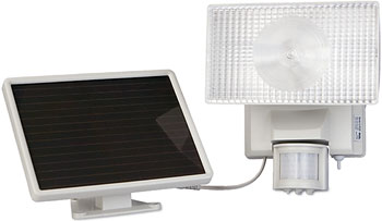 Solar Powered 10 Watt Halogen Outdoor Security Flood Light