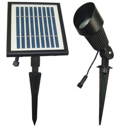 S12 LED Solar Flag Pole and Spotlight