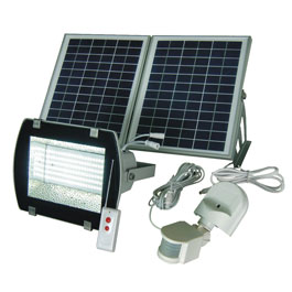 156 led solar outdoor security motion sensor flood light kit