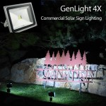 Outdoor Solar Sign Light for Entrance & Surface Signs