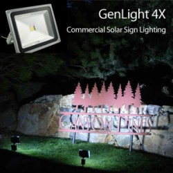 GenLight 4X Outdoor Solar Sign Light
