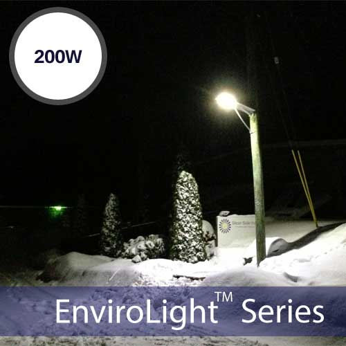 EnviroLight SX 200W LED Solar Street Light