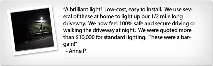 EnviroLight SX 100W LED Solar Street Light Customer Testimonial