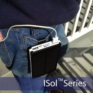 ISol Solar Portable Power Bank Backup Battery Charger