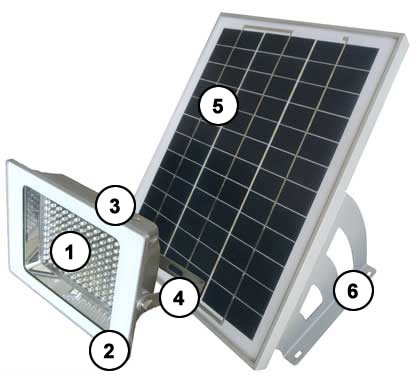 GenLight 2XLED Solar Sign Light Components