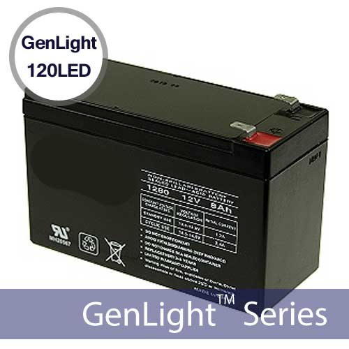 Replacement Li-Ion Battery For GenLight 120LED Solar Sign Lights