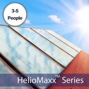 HelioMaxx Pro 3-5 Person Solar Hot Water Kit With ETEC Tank & 5 ALH20 Collectors