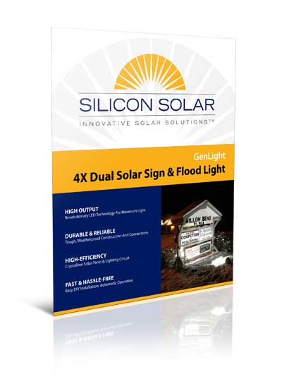 GenLight 4X Commercial Solar Sign Light