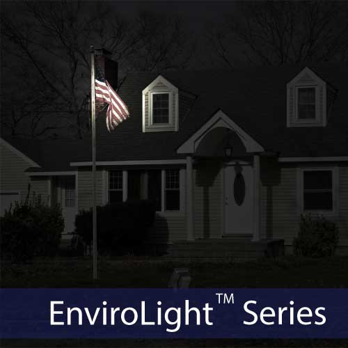 Custom Solar Flag Lighting