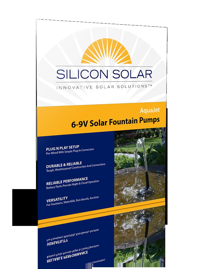 AquaJet Pro 6-9V Solar Fountain Pumps