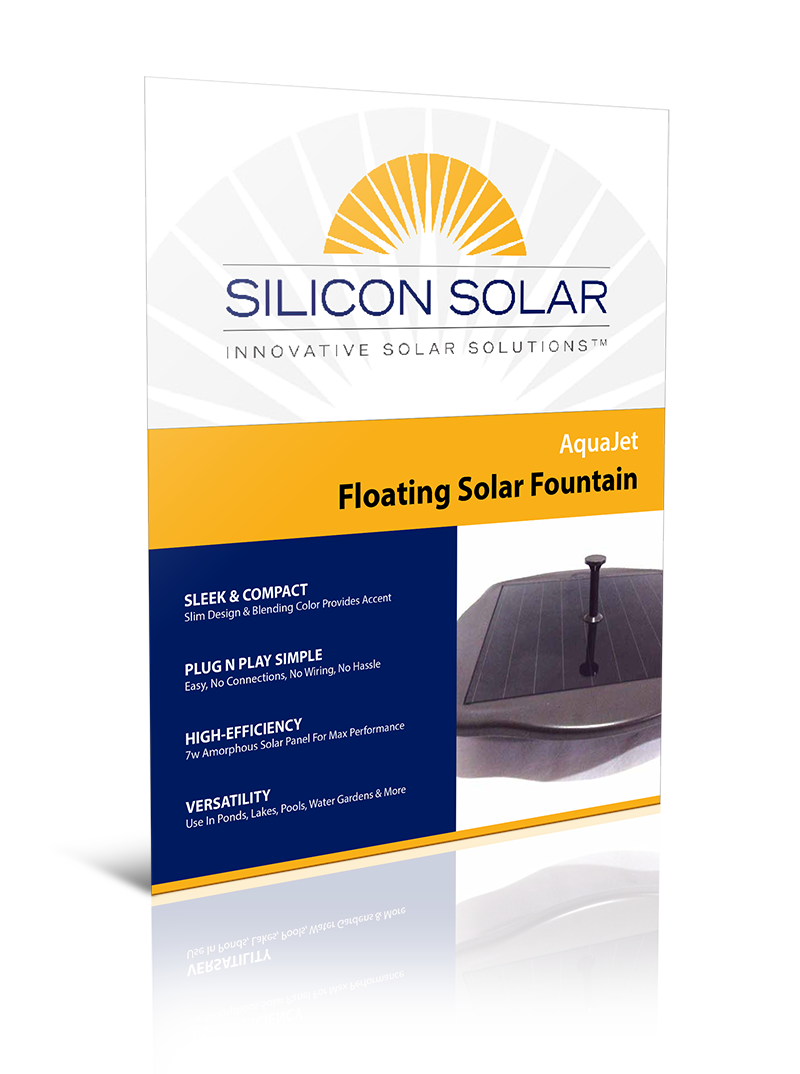 AquaJet Floating Solar Fountain
