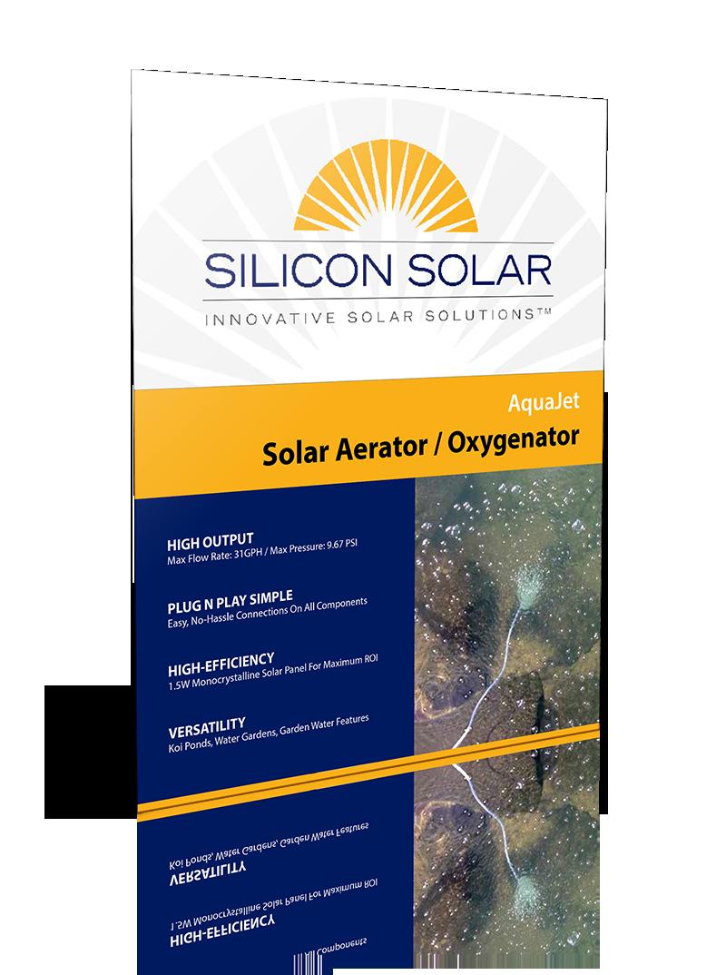 AquaJet Solar Aerator & Oxygenator Kit