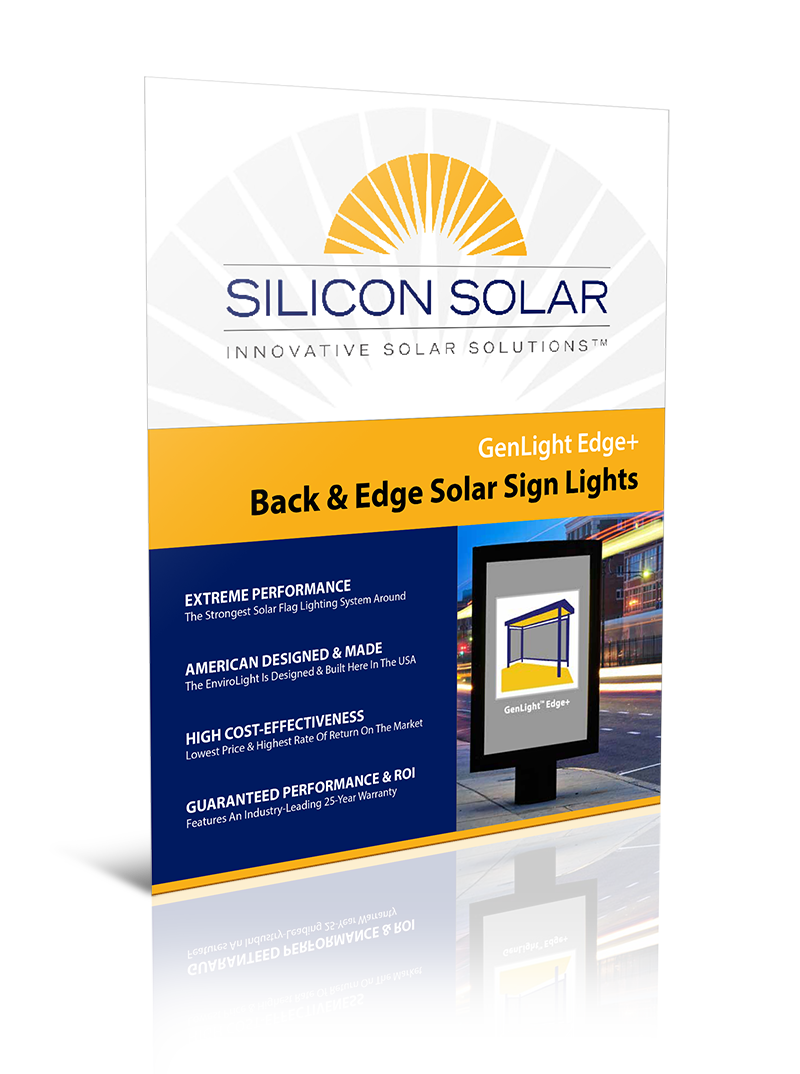 GenLight Edge+ Commercial Solar Sign Lights
