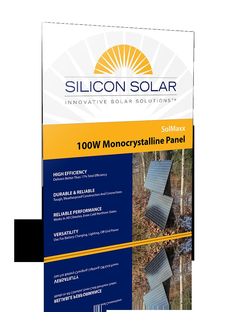 SolMaxx 12V100W Mono Solar Panel
