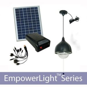 60 LED Solar Home Lighting Kit with Mobile Device Charger